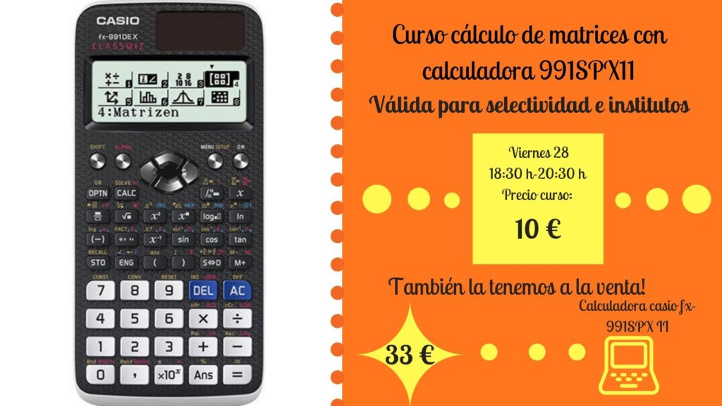 Curso de matrices con calculadora